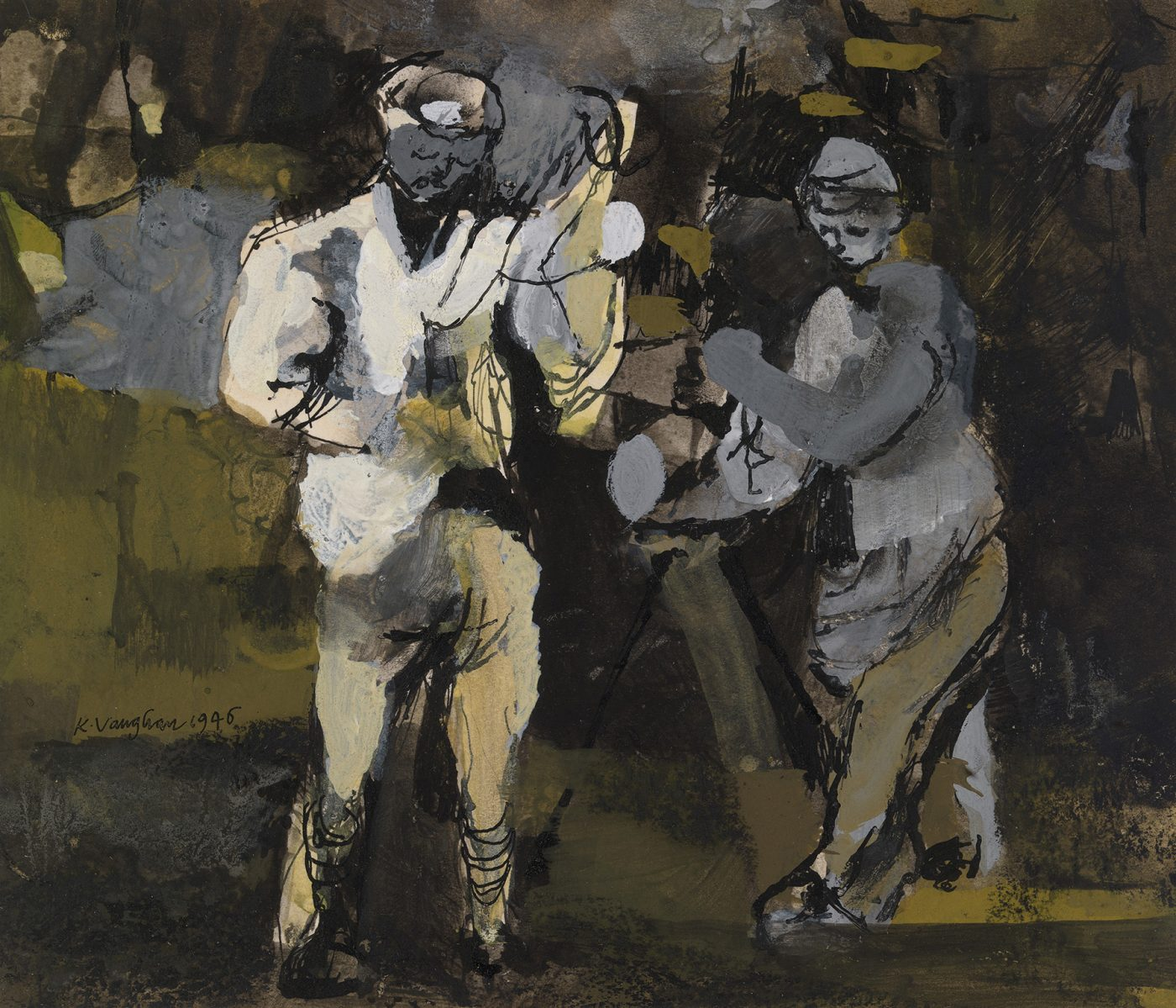 Keith Vaughan (1912-1977), Yorkshire Farm Labourers