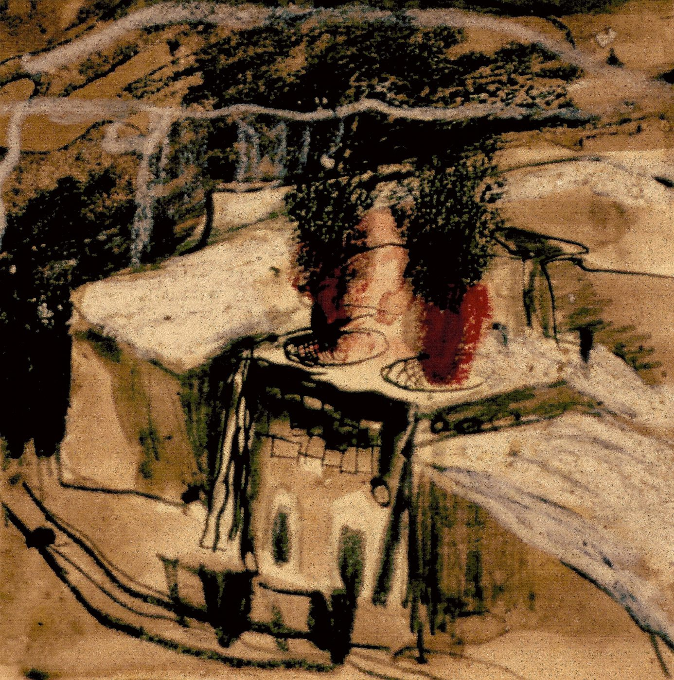 Graham Sutherland, OM (1903-1980), Limestone Quarry, Derbyshire: Open-top Kilns