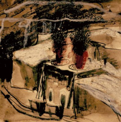 Graham Sutherland, OM (1903-1980)Limestone Quarry, Derbyshire: Open-top Kilns -