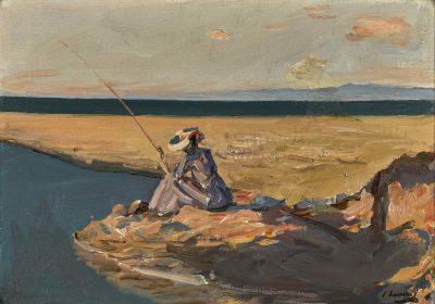 Sir John Lavery, RA (1856-1941)The Angler -