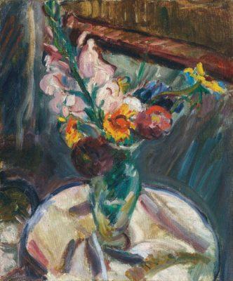 Matthew Smith (1879-1959)Gladioli in a Vase -