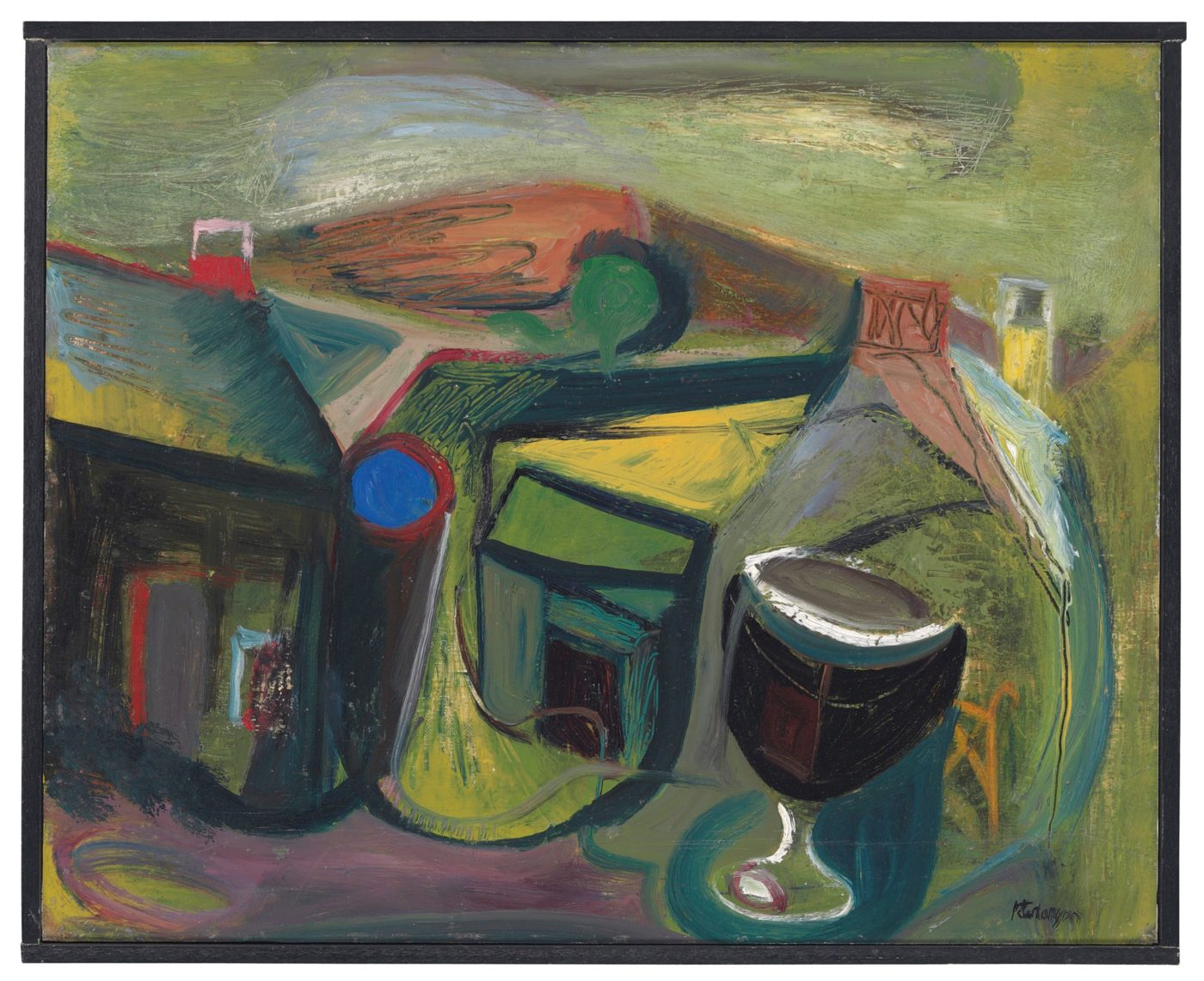 Peter Lanyon (1918-1964), Landscape and Cup (Annunciation)