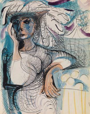 Ceri Richards (1903-2014)Seated Costerwoman -