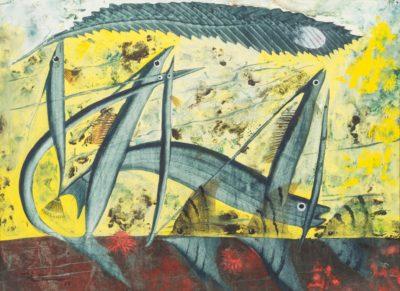 John Tunnard, ARA (1900-1971)Flying Fish and Angel Fish -
