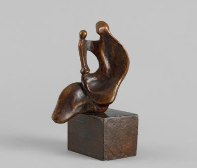 Henry Moore, OM CH (1898-1986)Seated Mother and Child: Thin -