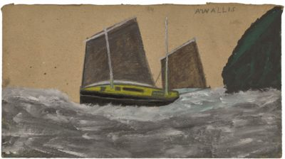 Alfred Wallis (1855-1942)A Lugger -