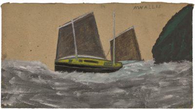 Alfred Wallis (1855-1942)A Lugger -