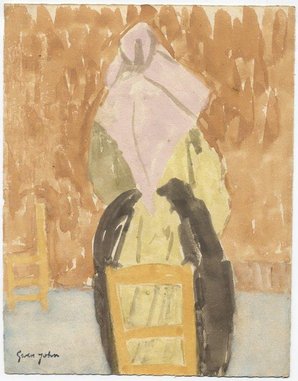 Gwen John (1876-1939), Rear View of a Standing Nun