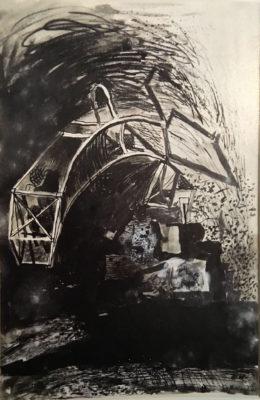 Graham Sutherland, OM (1903-1980)Devastation: City, Fallen Lift Shaft -