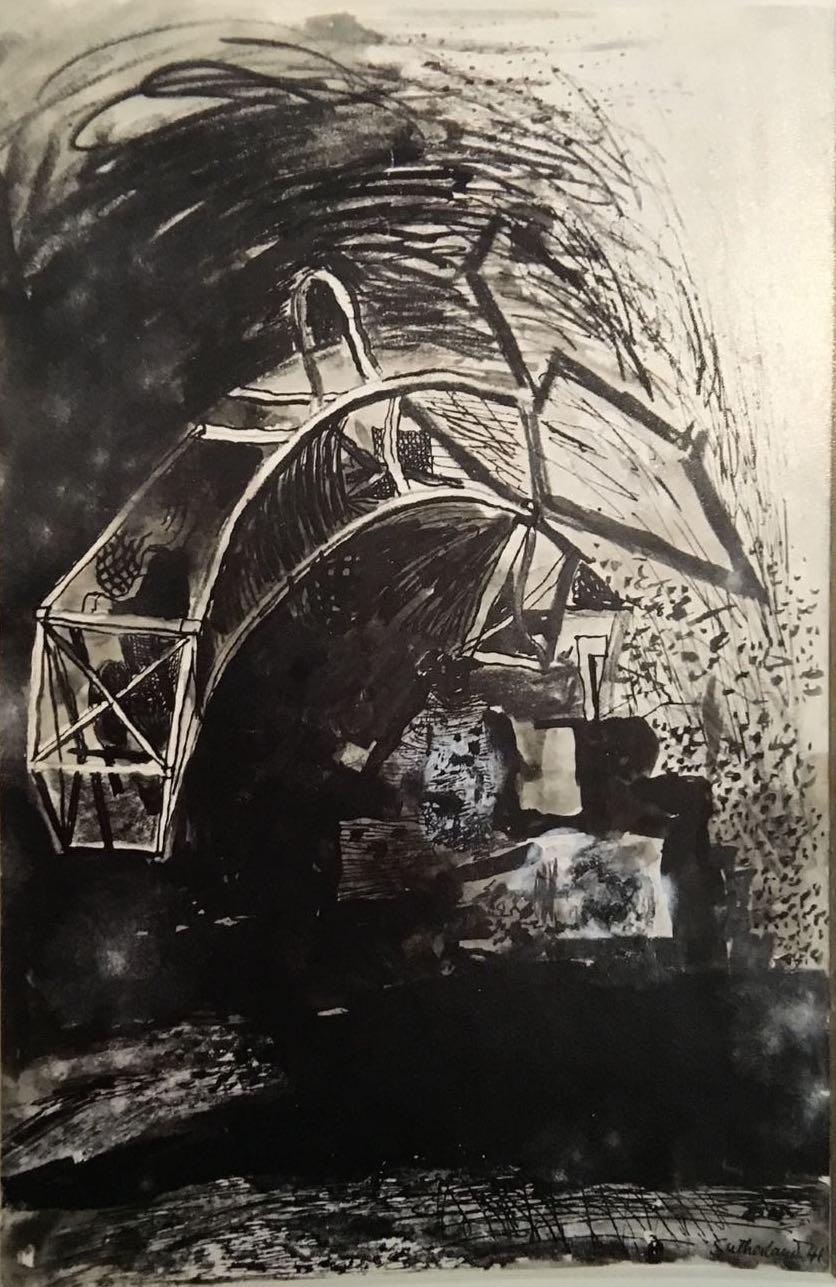 Graham Sutherland, OM (1903-1980), Devastation: City, Fallen Lift Shaft