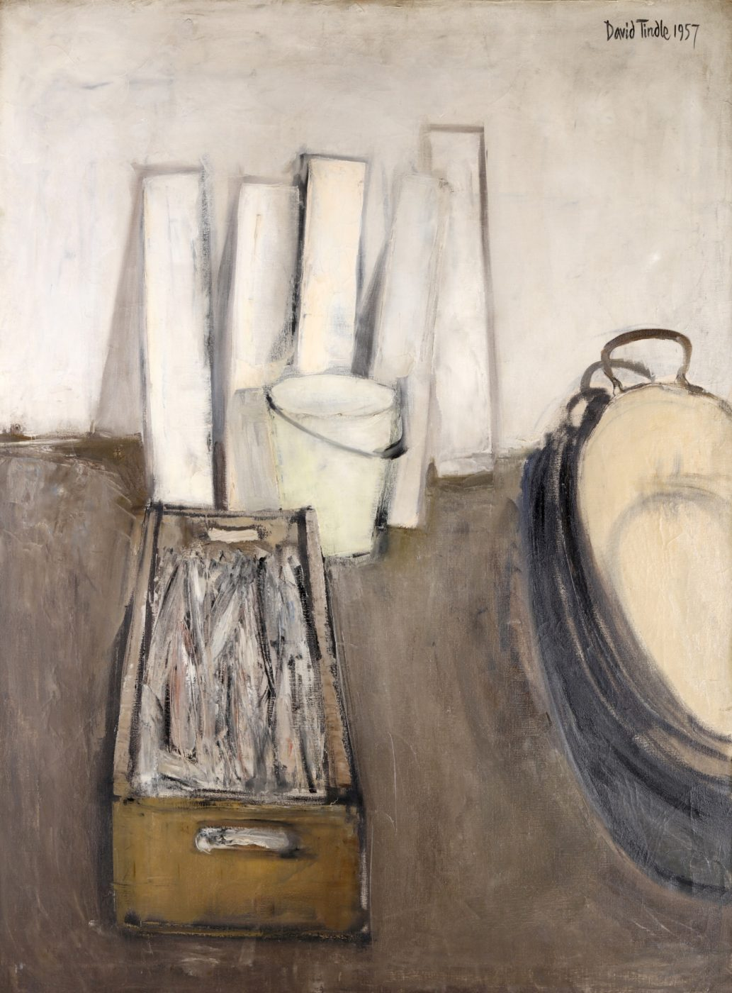 David Tindle (b. 1932), Still Life with Fish in a Box
