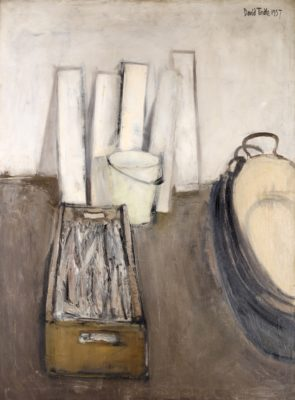 David Tindle (b. 1932)Still Life with Fish in a Box -