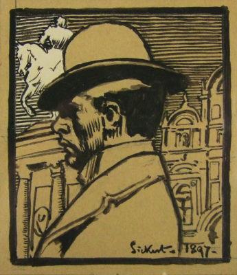 Walter Richard Sickert, RA (1860-1942)Self Portrait, Venice -