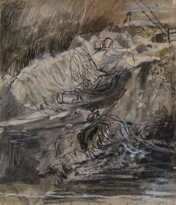 Graham Sutherland, OM (1903-1980)Study: Open Cast Coal Mining -
