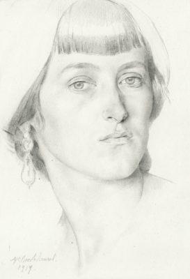 Gerald Leslie Brockhurst (1890-1978)Lady with Earrings -