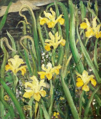 Christopher Richard Wynne Nevinson (1889-1946)Marsh Irises -
