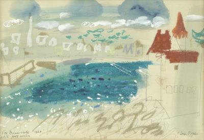 John Piper, CH (1903-1992)Turpault Castle, Quiberon -