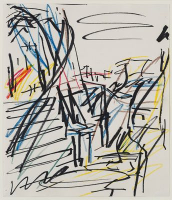 Frank Auerbach (b. 1931)Study for 'To The Studios 1990-1991' -