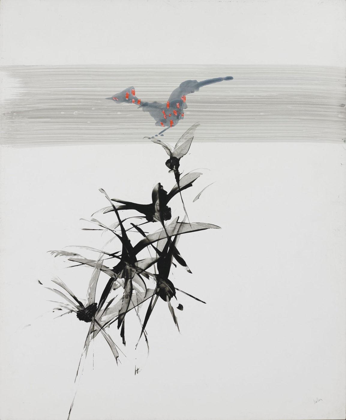 Sir Sidney Nolan, OM AC RA (1917-1992), Bird Perched on Plants