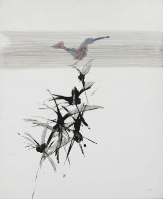 Sir Sidney Nolan, OM AC RA (1917-1992)Bird Perched on Plants -