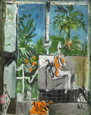 Graham Sutherland, OM (1903-1980)Woman sitting on a Veranda -
