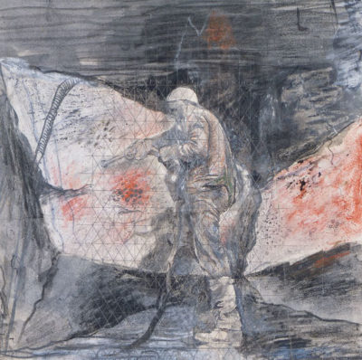 Graham Sutherland, OM (1903-1980)Limestone Quarry,Drilling Rocks -