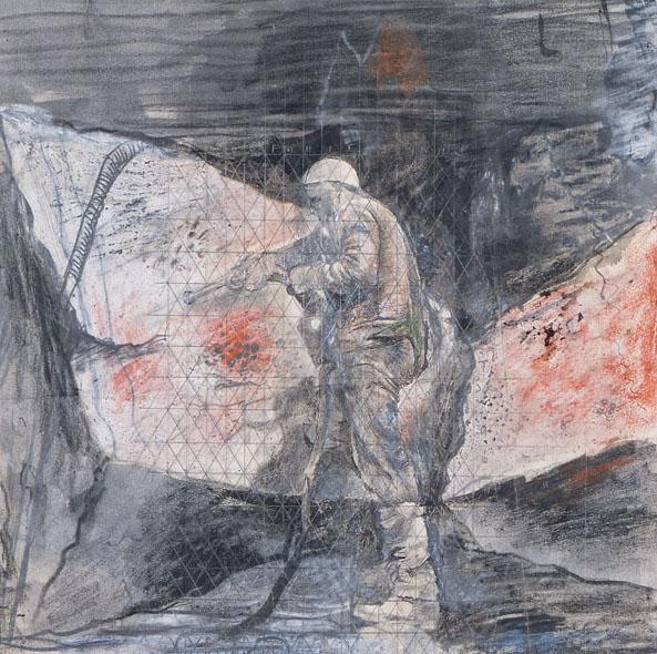 Graham Sutherland, OM (1903-1980), Limestone Quarry,Drilling Rocks