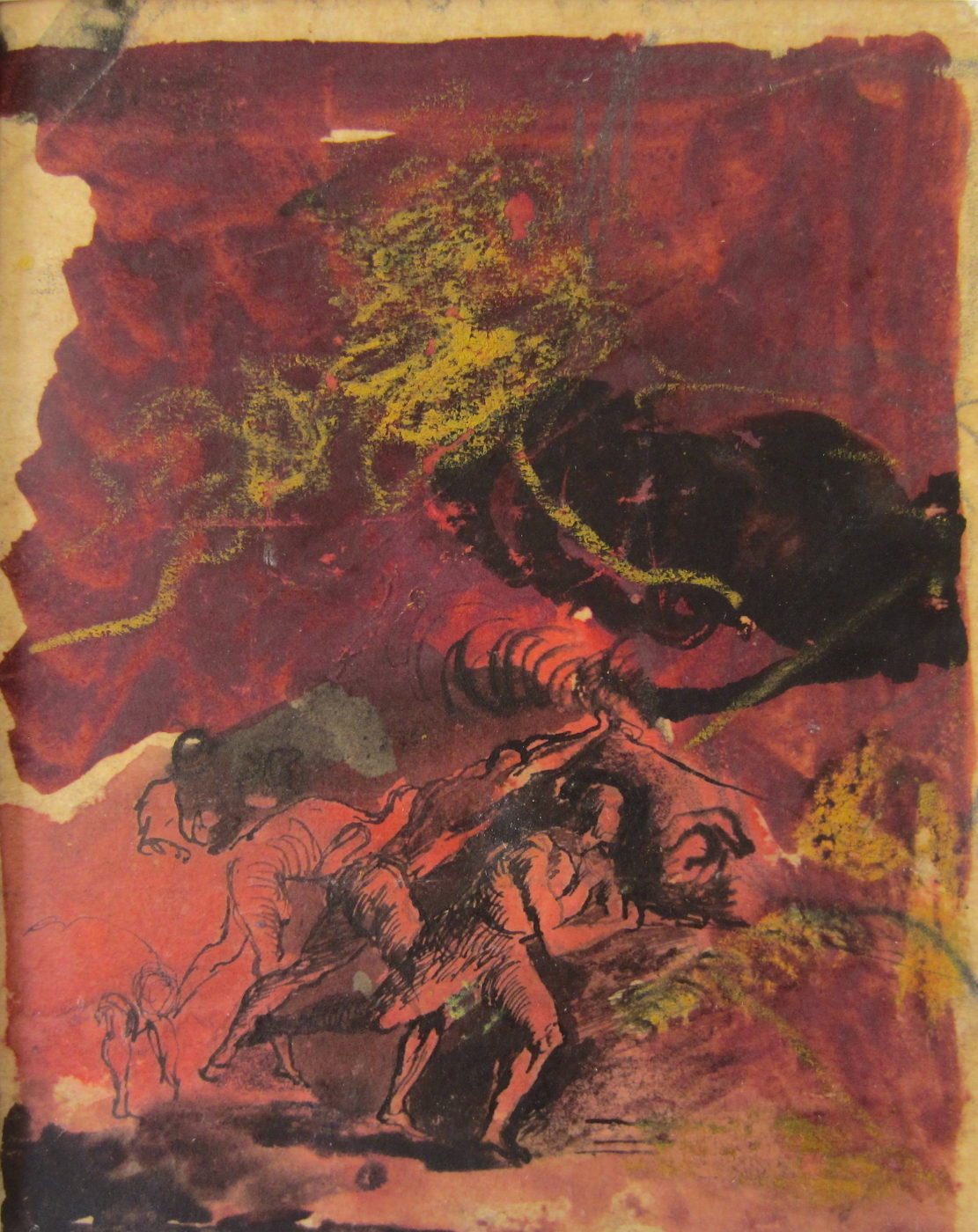 Graham Sutherland, OM (1903-1980), Tapping a steel furnace, Swansea