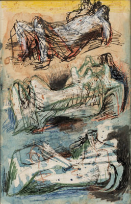 Henry Moore, OM CH (1898-1986)Three Reclining Figures, Studies for Sculpture -