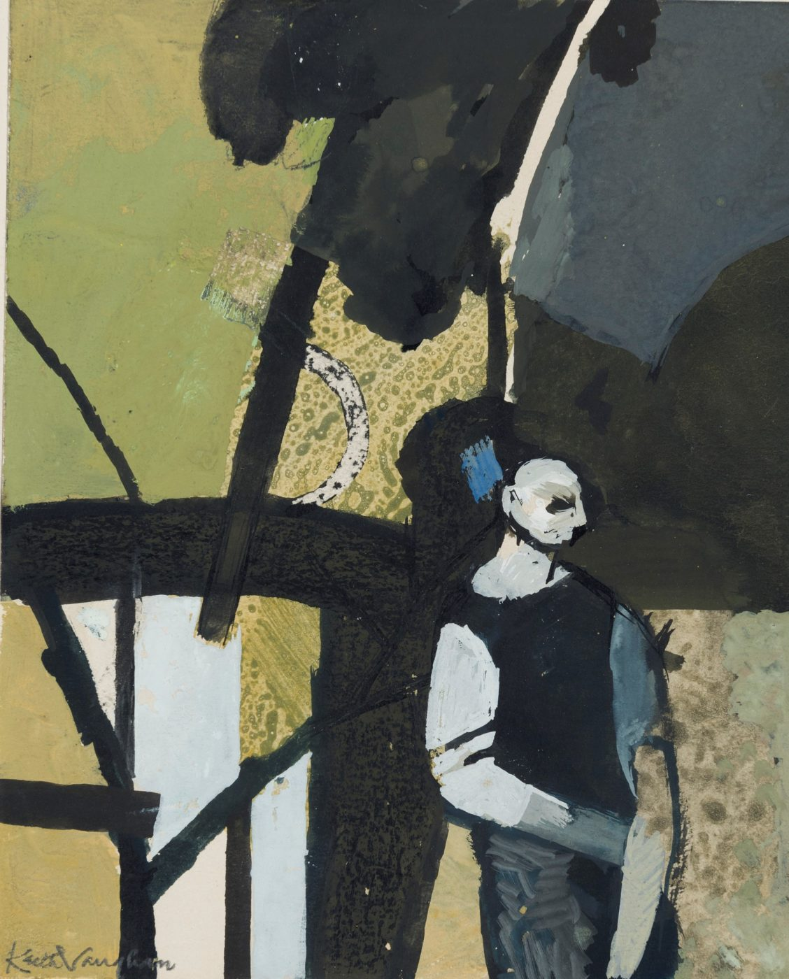 Keith Vaughan (1912-1977), Landscape with Woodman