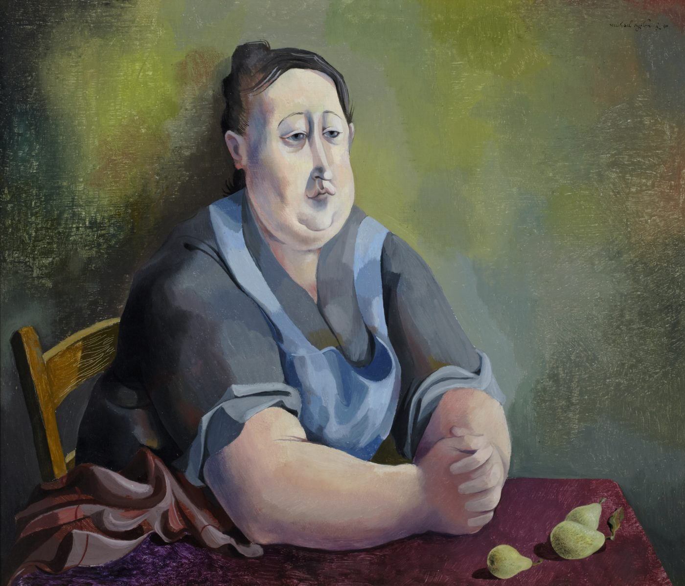 Michael Ayrton (1921-1975), Portrait with Pears