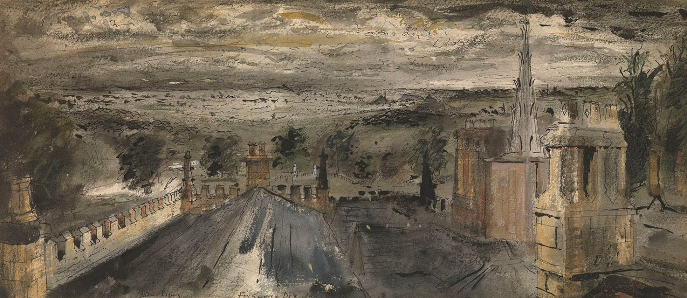 John Piper, CH (1903-1992), Roofscape, Renishaw Hall