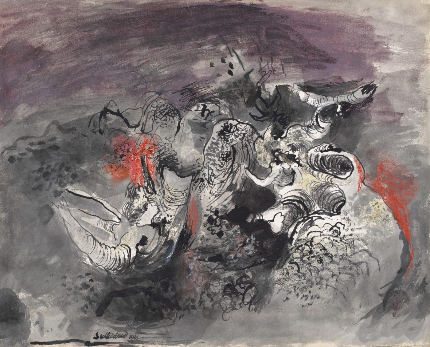 Graham Sutherland, OM (1903-1980), Dark Hillside