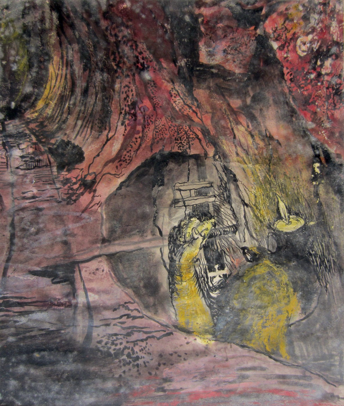 Graham Sutherland, OM (1903-1980), Tin Mine-Miner emerging from a Stope