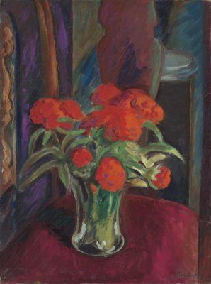 Bernard Meninsky (1891-1950)Sweet William and Peonies -