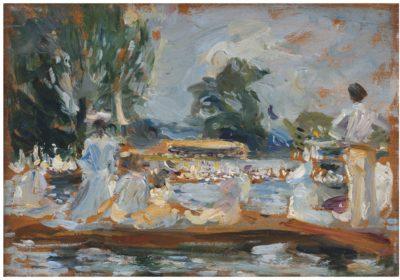 Joseph Oppenheimer (1876-1966)People in Punts, Henley Regatta -